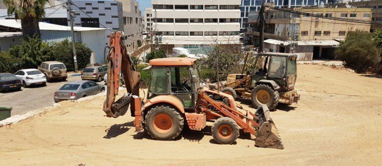 הקמת חניונים ומגרשי חניה
